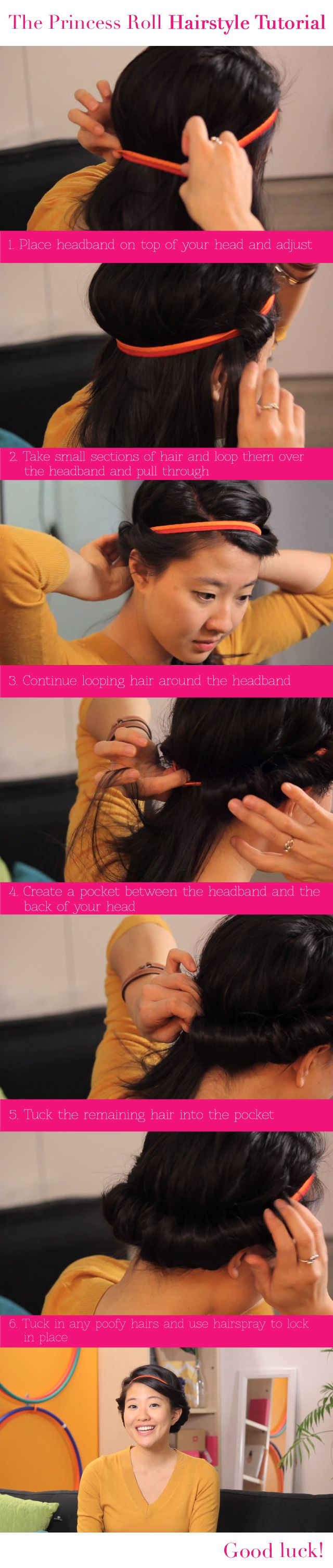 The Princess Roll Hairstyle Tutorial - You know, because I'm such a princess.