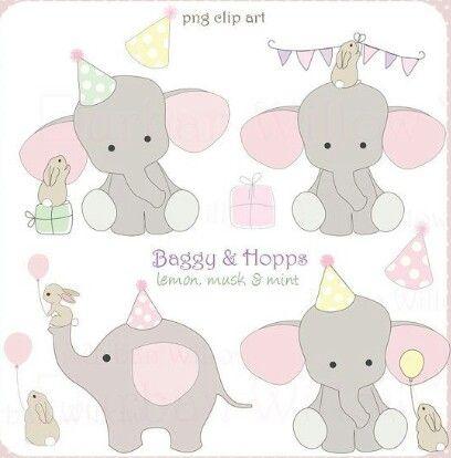 Elefante gorro cumple