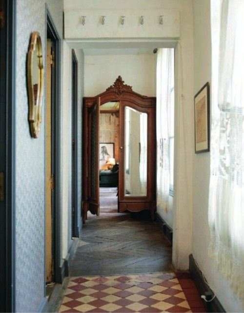 The Decorative Genius Of Repurposing - Places in the Home. China hutch or armoire doors use for regular doors.