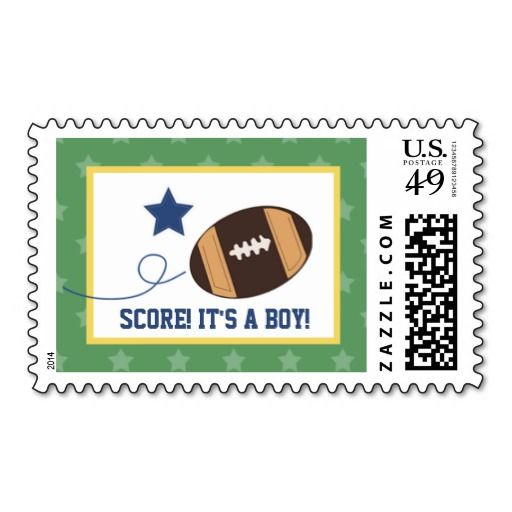 football star sports theme baby shower postage baby shower
