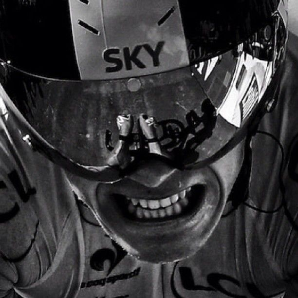 the pained face of Tour de France Champion Chris Froome. Pushing through the pain boundary is what his efforts are about.