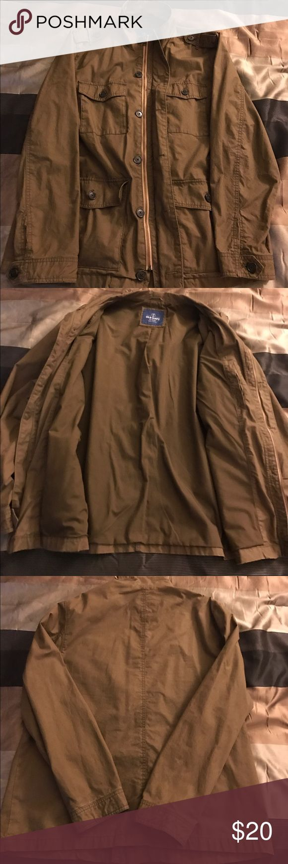 Olive old navy military style jacket. Old navy great condition military style xl jacket. Old Navy Jackets & Coats Military & Field