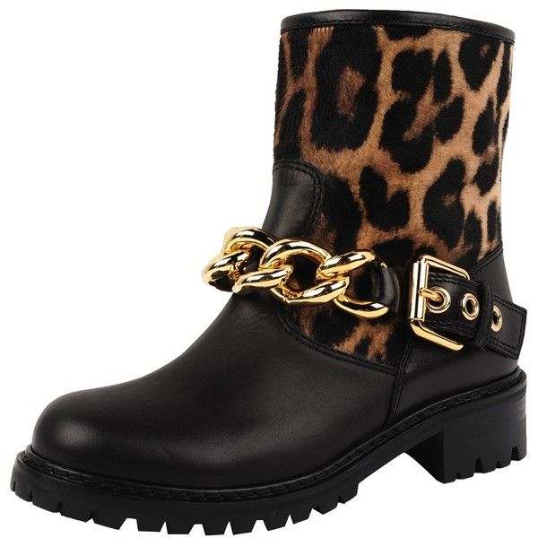 Giuseppe Zanotti Blok Boot (€580) ❤ liked on Polyvore featuring shoes, boots, scarpe, leopard, giuseppe zanotti, leopard print shoes, animal print shoes, giuseppe zanotti shoes and animal print boots