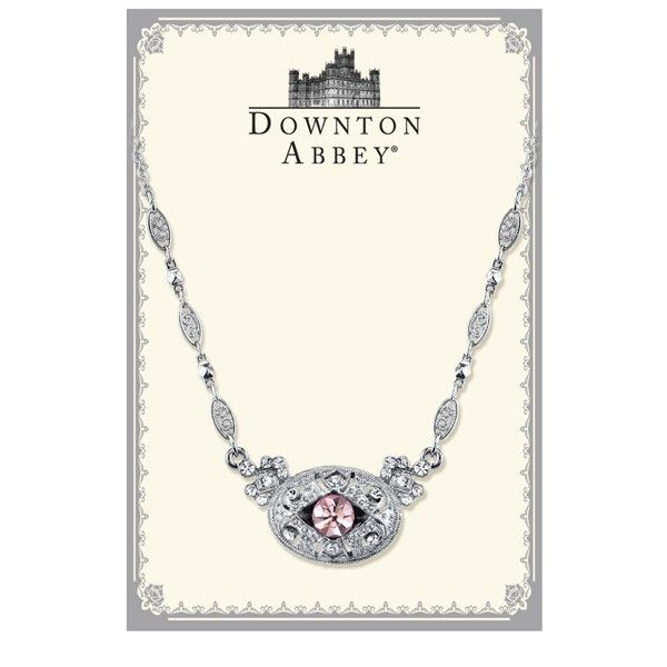 Downton Abbey® Boxed Silver-Tone Light Amethyst Color Crystal Necklace
