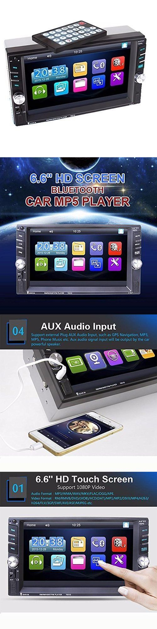 Audio video remotes bluetooth car stereo 6 6hd touch screen mp5 player radio audio remote