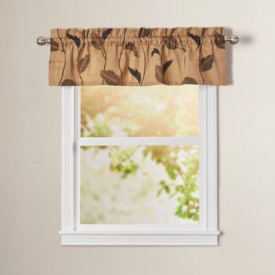 Found It At Wayfair Concetta Large Scale Leaf And Vine 50 Curtain Valance Log House
