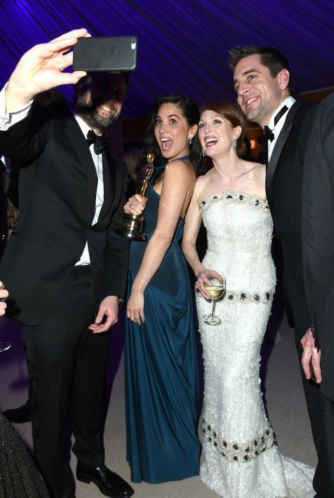 Bart Freundlich, Olivia Munn, Julianne Moore, and Aaron Rodgers: proof even celebs can look ridiculous taking selfies. See 90 more examples.
