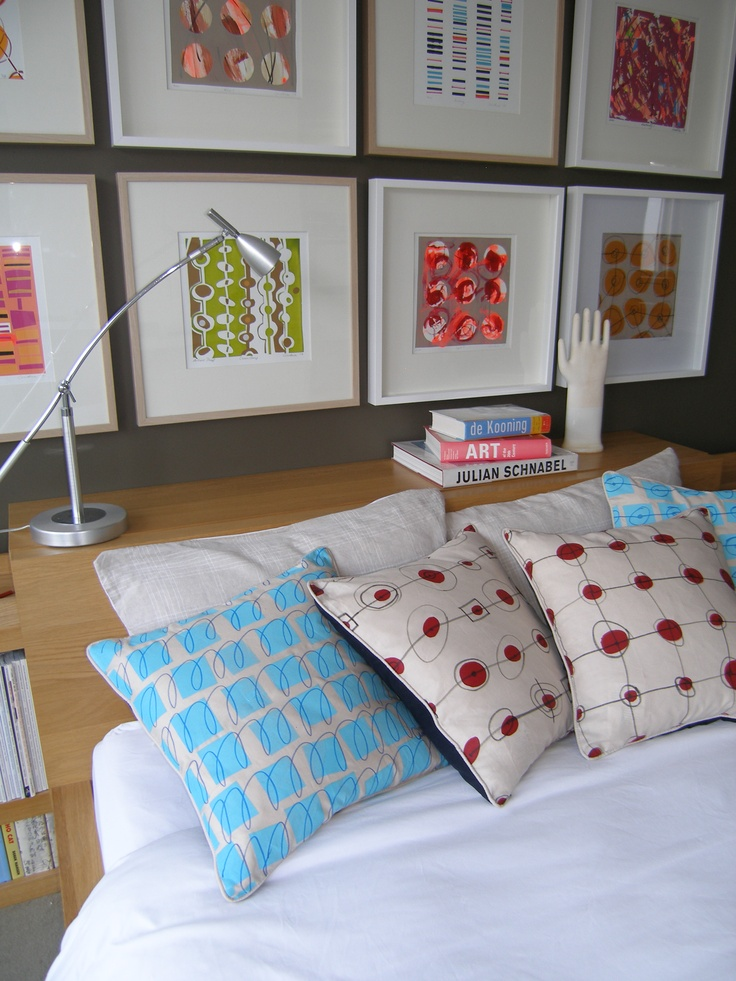 artyfact decor Screen Prints on paper framed and, screen prints on linen made into cushions.