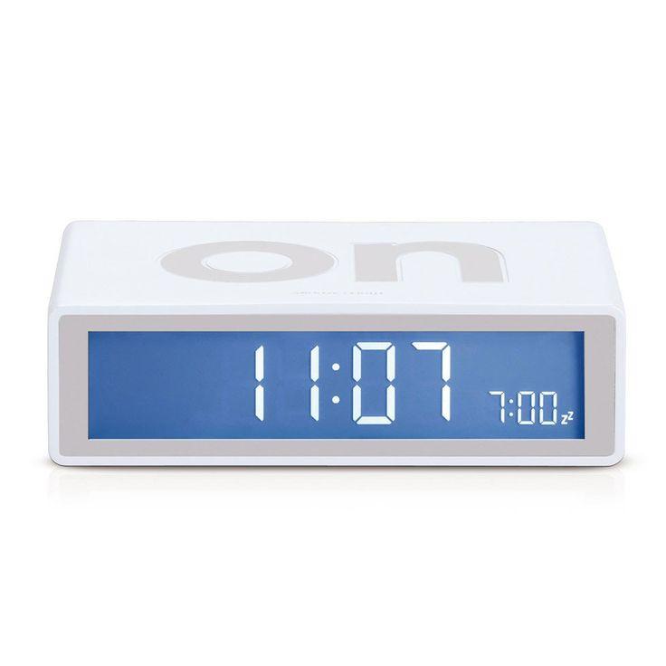 Flip Alarm Clock - White