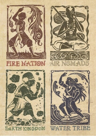 Avatar Benders, tribe, nation, kingdom and nomades