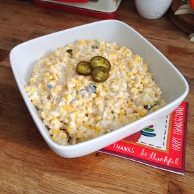 Jalepeno Cream Corn - it's a fave at family dinners!