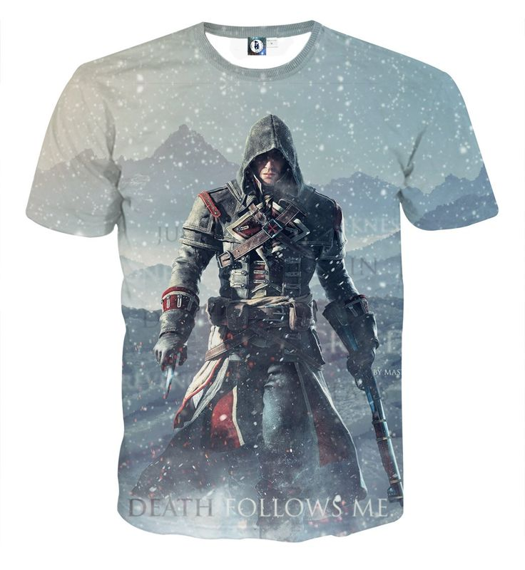 Assassin's Creed Rogue Shay Cormac Death Follows Me T-shirt    #Assassin'sCreed #Rogue #ShayCormac #Death #Follows #Me #T-shirt