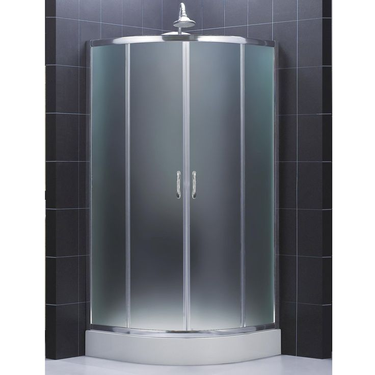 dreamline prime frameless sliding shower enclosure and slimline 33 in by 33 in quarter round shower base by dreamline - Dreamline Shower