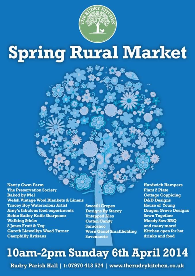 Ladies & gents, the daffodils are blooming and we'll be packed with your favourite stalls so grab your bags everybody and come on down! There'll be local producers, Arts & Craft, hot food, Robin will be sharpening knives & our Amy will be doing amazing scientific experiments with food and the sun will be shining too...