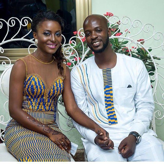 Flash back to this lovely couple! Love her dress deets!!! Photo by @narcissephotography #weloveghanaweddings