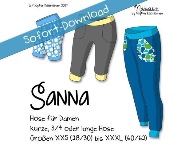 Nähanleitungen Mode - eBook Sanna - Hose für Damen in drei Längen - ein Designerstück von Kaariainen bei DaWanda