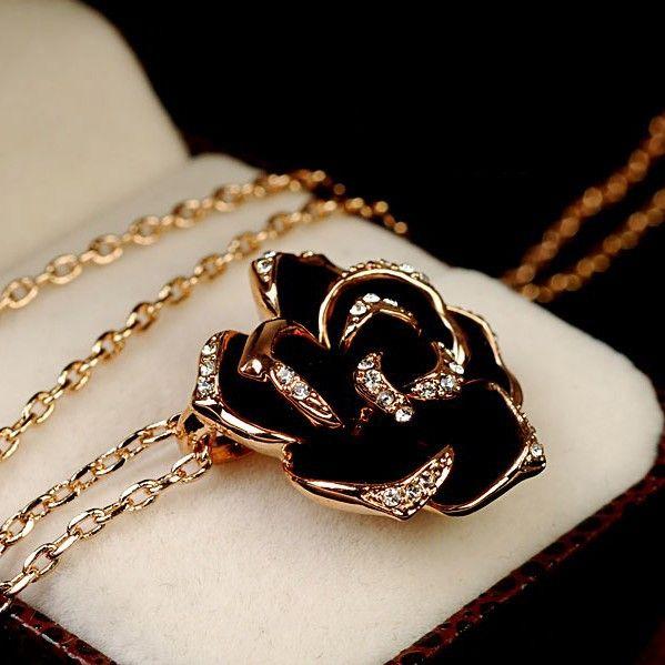 The Gorgeous Black Rose Women's Fashion Necklace
