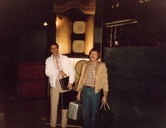 Sound designer Richard Long (left) with associate Roger Goodman. Photo courtesy of Albert Assoon.