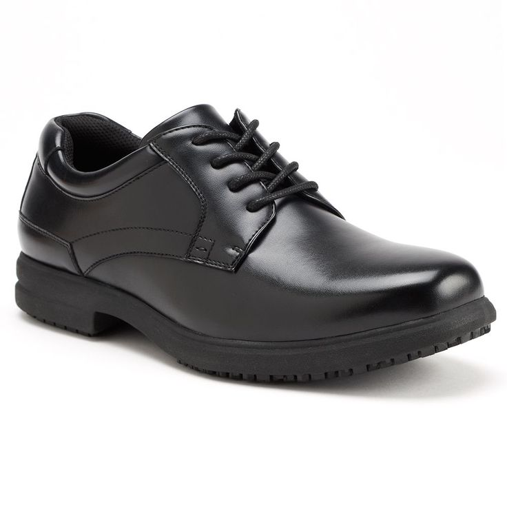 Nunn Bush Sherman Men's Oxford Slip-Resistant Shoes, Size: 9.5 Wide, Black
