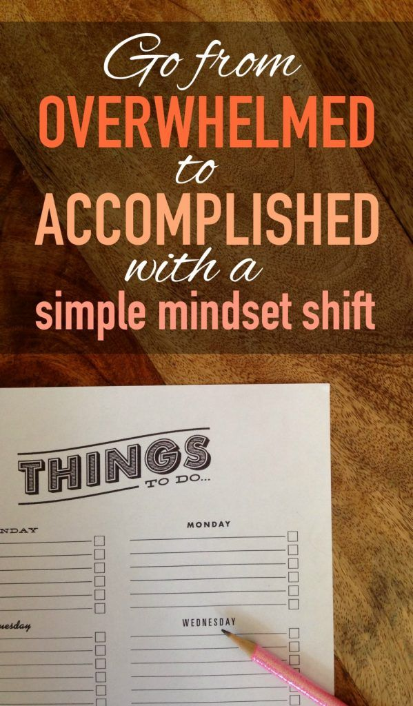 The difference between going to bed each night with a sense of accomplishment vs. feeling defeated by all you've left un-done is all in your mind. Click to read about a simple shift in mindset that can instantly improve your outlook!