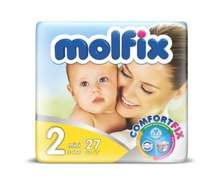 """Molfix Подгузники детские Mini 2, 3-6 кг  — 349р. -------------- Подгузники детские """"Molfix"""" Мини 2 (3-6 кг), 27 шт.  Ни для кого ни секрет, что каждая мама хочет обеспечить защиту и комфорт для своего малыша. Новые премиальные подгузники Molfix отвечают самым высоким стандартам качества категории и соответствуют ожиданиям даже самых взыскательных мам: они отлично впитывают, тонкие и эластичные, обеспечивают малышам надежную защиту, комфорт и хорошее настроение.  Подгузники…"""