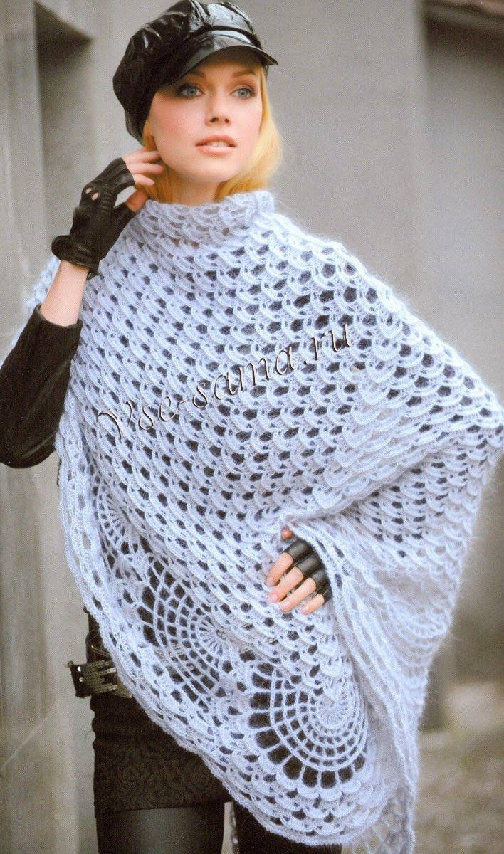 Russian Lace Crochet Scarf Diagram How To Draw Electrical Wiring Diagrams Best 25+ Shawl Ideas On Pinterest | Ponchos Con Picos, And ...