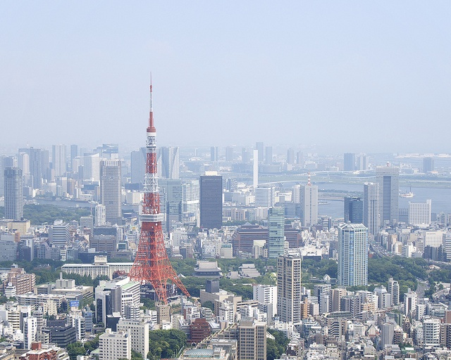 Tokyo Tower - from Roppongi Hills Tokyo City View Sky Deck, via Flickr.