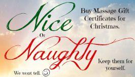 Black Friday Massage Gift Certificates