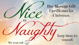 Black Friday Massage Gift Certificates