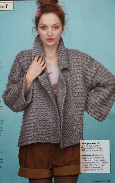 Jurnal de croitorie, tricotat si quiltuit: Tricotati o jacheta de toamna PHILDAR din revista KNIP mode (octombrie 2013).