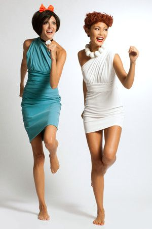 Wilma and Betty rental halloween costume from rent the runway