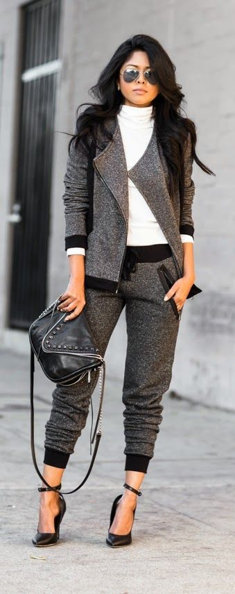 Perfect Black & Grey # Inspiration / Best LoLus Street Fashion