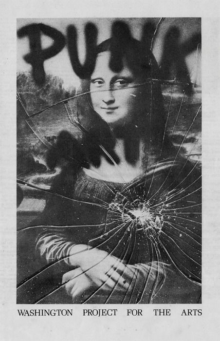 Mona Lisa as Punk Art, Washington Project for the Arts, 1978. Design by Miller, Ringma & Hoppe. ☚