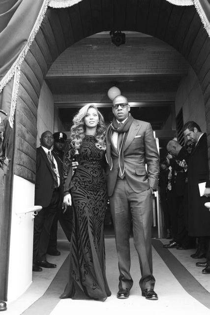 Beyoncé & Jay-Z at President Barack Obama's second inauguration, January 2013