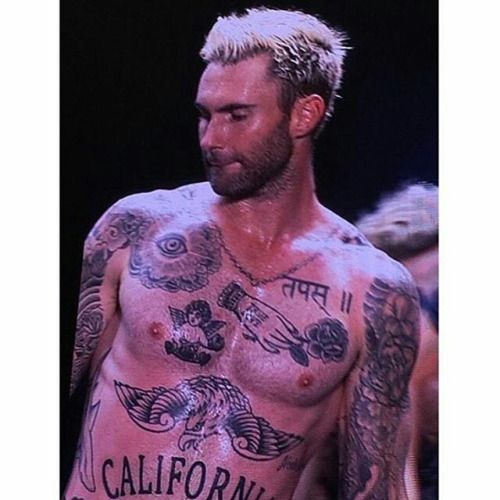 1000 images about adam pix on pinterest for Maroon 5 tattoos hindu