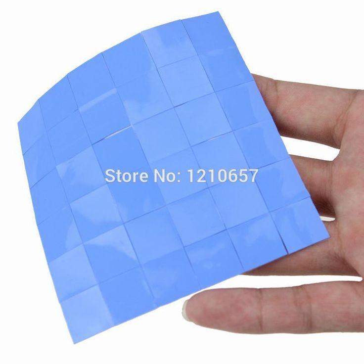 72Pieces lot Blue Silicon Conductive GPU CPU 15 x 15 x 0.5mm  Heatsink Thermal Pad