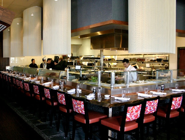 Sushi bar at Dragonfly Orlando. One of the largest in Orlando.