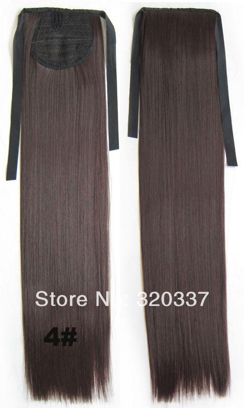 клип в ленте синтетических волос хвост шиньоны хвост прямо шнурок хвост волос пони хвост расширений #4, принадлежащий категории Накладные волосы на заколках и относящийся к Красота и здоровье на сайте AliExpress.com   Alibaba Group
