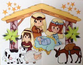 Bible Fun For Kids: Birth of Jesus Cut & Glue Mini Book for Preschool