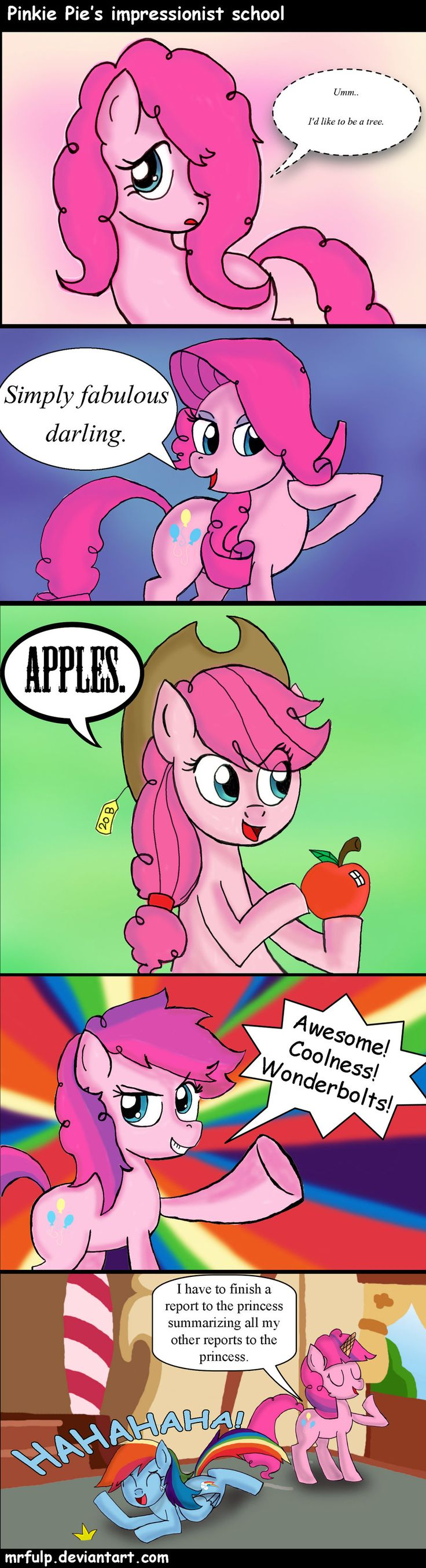 Pinkie's Impressionist School don't forget to summarize all your reports to the princess