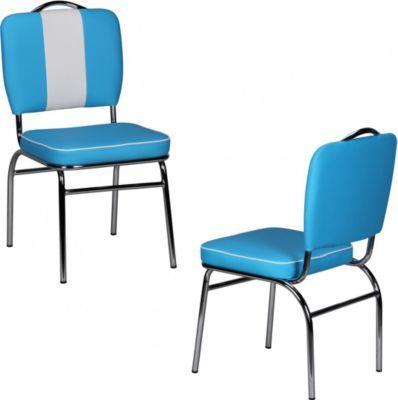 Popular Wohnling Wohnling Esszimmerstuhl American Diner er Jahre Retro Blau Wei Jetzt bestellen unter