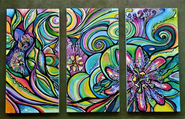 Abstract Flowers: Wilcox Art, Art Inspiration, Colleen Wilcox, Art Ideas, Canvas, Artist, Paintings, Tropical Art, Passion Flowers