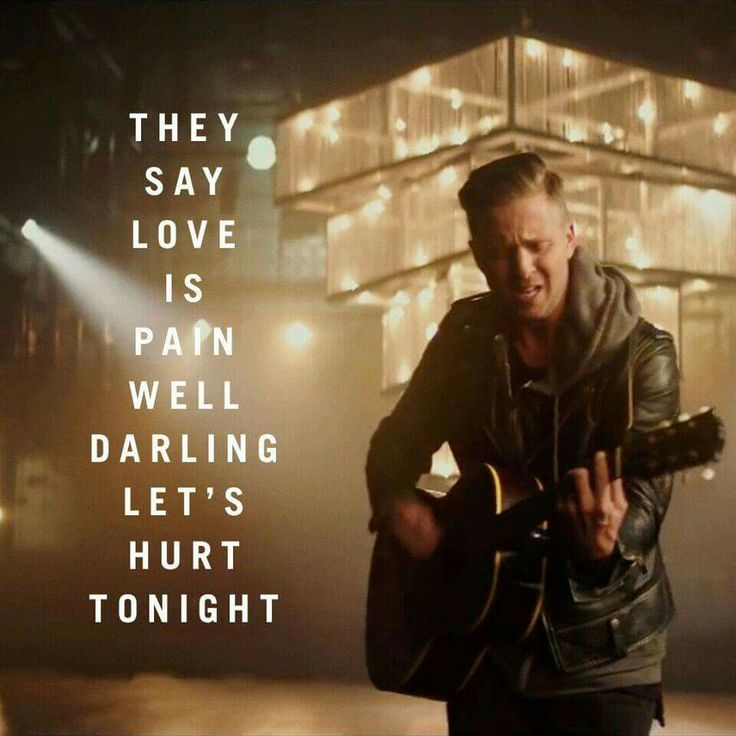 Let's hurt tonight- onerepublic