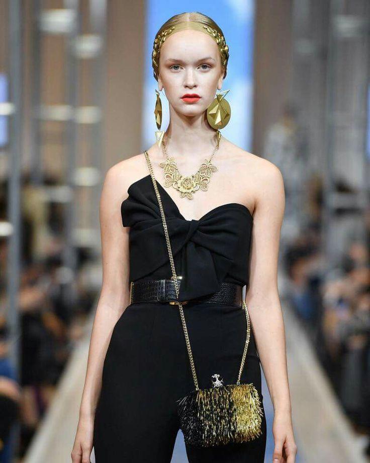 Gold & black evening bag