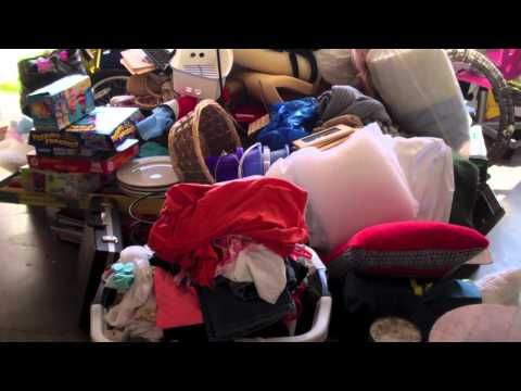 Have a Yard Sale is great for many reasons!  After our household meeting we begin the undergoing of going through all our clutter. Everyone came together with their thoughts as well as their items by themselves and put aside all that they think would sell well in the yard sale.