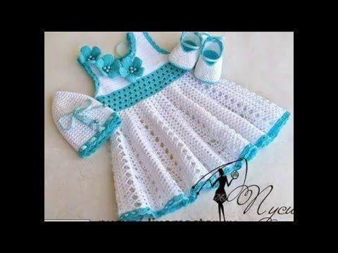 Cómo hacer Vestidos de niña en Crochet Paso a Paso