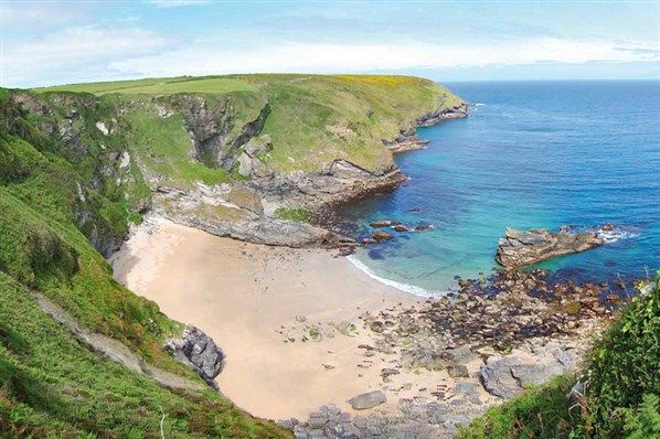 One of my favourite wild swimming spots - Fishing Cove nr Gwithian - the path isn't for the faint hearted!