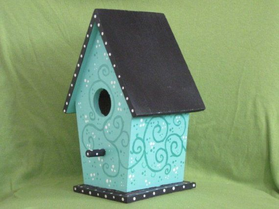 17 Best ideas about Painted Birdhouses on Pinterest | Bird houses ...