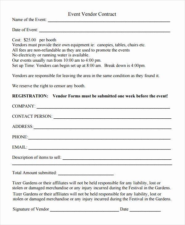 New Vendor Setup Form Excel Template New 9 Sample Vendor Registration Forms Vendor Events Registration Form Event Registration
