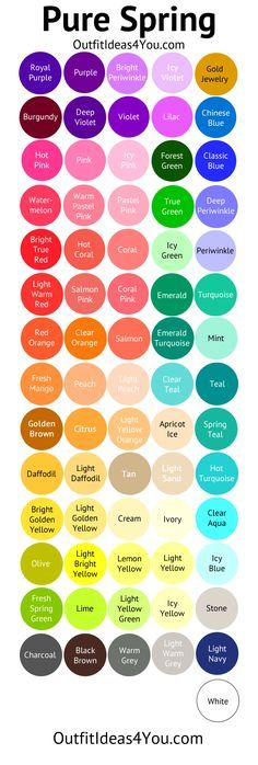 Clear Spring Color Palette (Pure Spring)                                                                                                                                                     More
